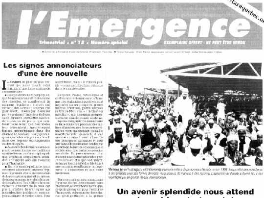 Le journal l'Emergence